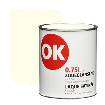 OK lak zijdeglans gebroken wit 750 ml