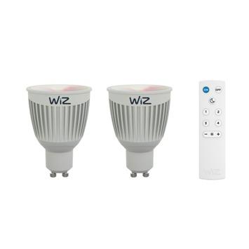 WiZ color GU10 345LM 2 stuks incl. afstandbediening