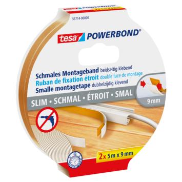 Tesa Powerbond montagetape smal 5mx9mm