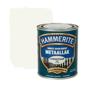Hammerite Direct over Roest metaallak structuur wit 750 ml