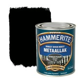 Hammerite Direct over Roest metaallak structuur zwart 750 ml
