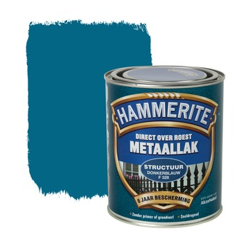 Hammerite Direct over Roest metaallak structuur donkerblauw 750 ml