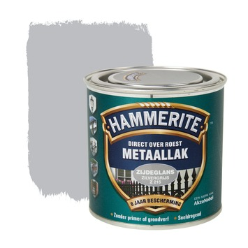 Hammerite Direct over Roest metaallak zijdeglans zilvergrijs 250 ml