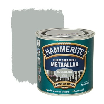 Hammerite Direct over Roest metaallak zijdeglans grijs 250 ml