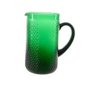 Kan glas reliëf donkergroen Ø11x21cm