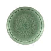 Bord aardewerk Ø26x4 cm mintgroen