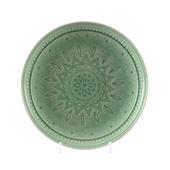 Bord aardewerk Ø21x3 cm mintgroen