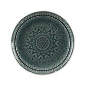 Bord aardewerk Ø26x4 cm donkergroen