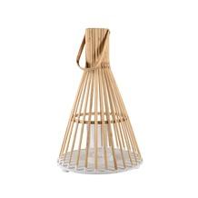 Lantaarn bamboe/glas naturel Ø 32x50 cm