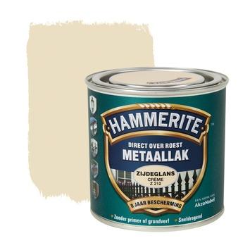Hammerite Direct over Roest metaallak zijdeglans crème 250 ml
