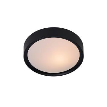 Lucide plafonnière Lex E27 ø 25 cm zwart