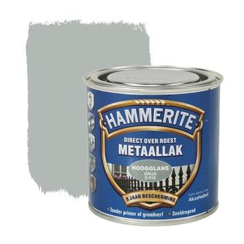 Hammerite Direct over Roest metaallak hoogglans grijs 250 ml