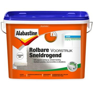 Alabastine rolbare voorstrijk sneldrogend wit 5 l