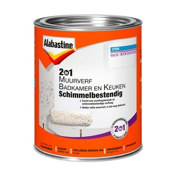 Alabastine 2in1 muurverf badkamer en keuken schimmelbestendig 1 l ...
