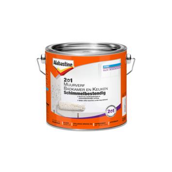 Alabastine 2in1 muurverf badkamer en keuken schimmelbestendig 2,5 l