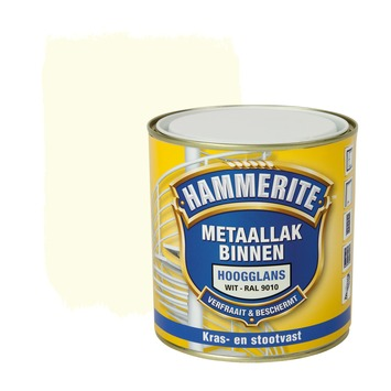 Hammerite Direct over Roest metaallak hoogglans ral 9010 500 ml