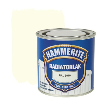Hammerite radiatorlak hoogglans ral 9010 250 ml
