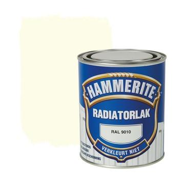 Hammerite radiatorlak hoogglans ral 9010 750 ml