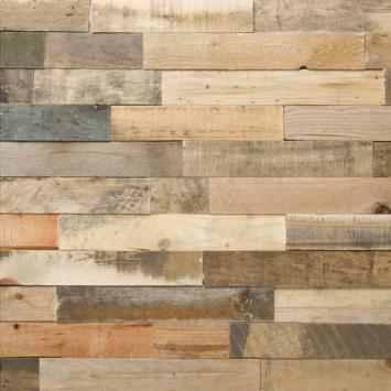 Wandbekleding WoWood plakhout transparant mix (ca. 1,15 m2)