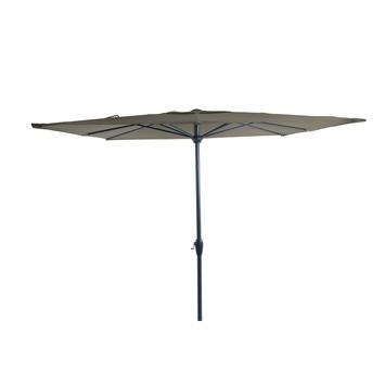 Parasol Elles vlak taupe d250 cm