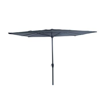 Parasol Elles vlak antraciet d250 cm