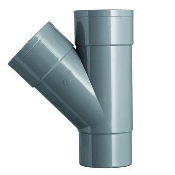 Martens PVC T-stuk 45° Mof/ Verjongd 70 x 70 mm