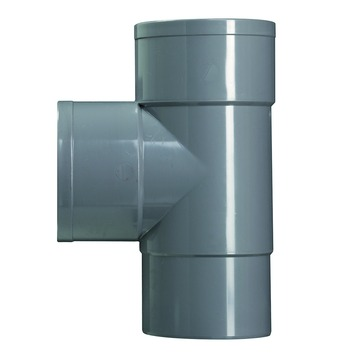 Martens PVC T-stuk 90° grijs mof/verjongd 70x70 mm