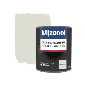 Wijzonol Dekkend extreem RAL9001 Hoogglans 750ml