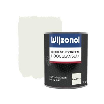 Wijzonol Dekkend extreem RAL9010 Hoogglans 750ml