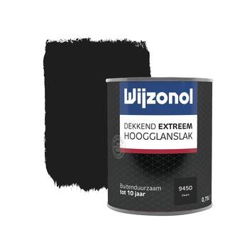 Wijzonol Dekkend extreem Zwart Hoogglans 750ml