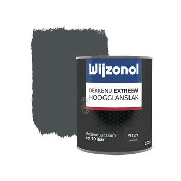 Wijzonol Dekkend extreem Antraciet Hoogglans 750ml