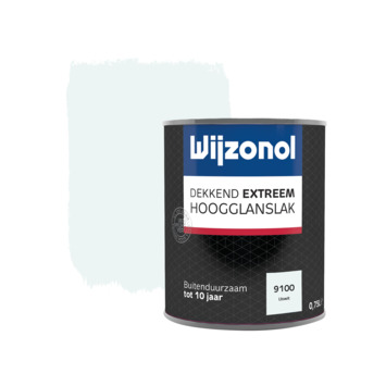 Wijzonol Dekkend Extreem hoogglans ijswit 750 ml