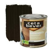 CetaBever binnenbeits transparant zijdeglans ebben 250 ml