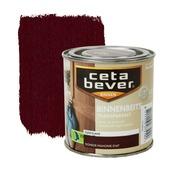 CetaBever binnenbeits transparant zijdeglans donker mahonie 250 ml