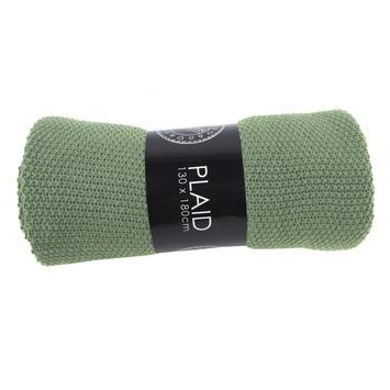 Plaid gerstekorrel vergr groen 110x140 cm