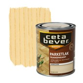 CetaBever parketlak transparant zijdeglans blank 750 ml