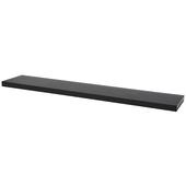 B!Organised zwevende wandplank 38 mm zwart eiken 118x23.5 cm