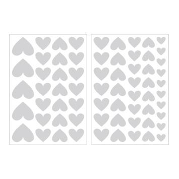Muursticker hartjes lichtgrijs (dessin 89410)