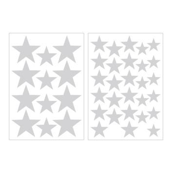 Muursticker sterren lichtgrijs (dessin 89411)