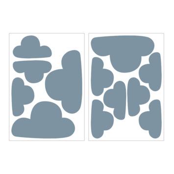 Muursticker wolken blauw (dessin 89413)