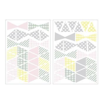 Muursticker driehoekjes multi (dessin 89422)