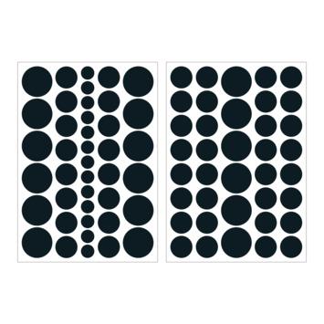 Muursticker stippen zwart (dessin 89424)