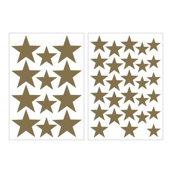Muursticker sterren goud (dessin 89432)