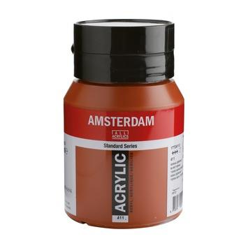 Amsterdam verf acrylverf sienna gebrand flacon 500ml