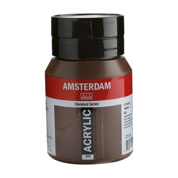 Amsterdam verf acrylverf omber gebrand flacon 500ml