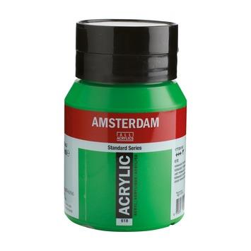 Amsterdam verf acrylverf permanentgroen flacon 500ml