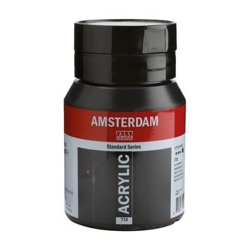 Amsterdam verf acrylverf oxydzwart flacon 500ml