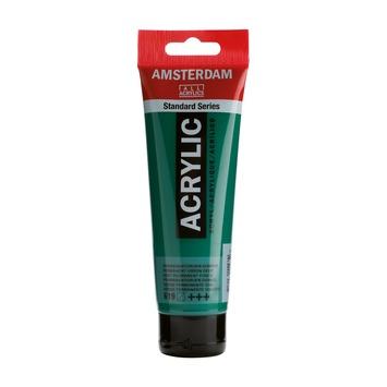 Amsterdam verf acrylverf permanentgroen donker 120 ml