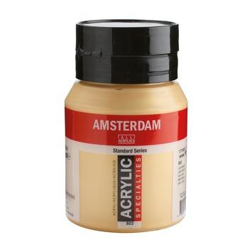 Amsterdam verf acrylverf lichtgoud flacon 500ml