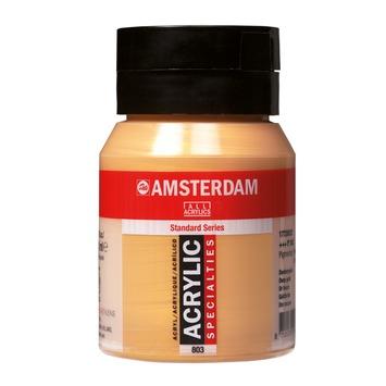 Amsterdam verf acrylverf donkergoud flacon 500ml